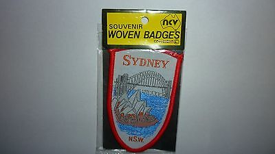 Vintage Sydney Souvenir Woven Badges New In Package Sew On Patch