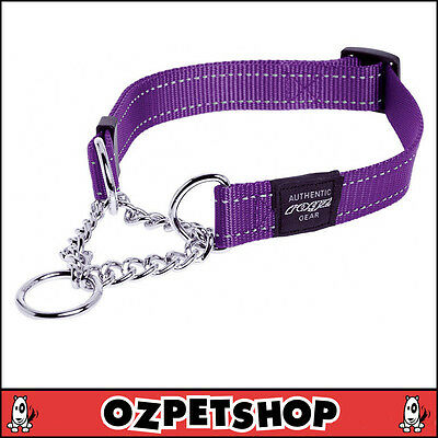 Rogz Utility Half Check Dog Obedience Collar - 8 Colours