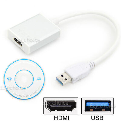USB 3.0 to HDMI HD 1080P Converter Cable Display Graphic Adapter For Laptop PC