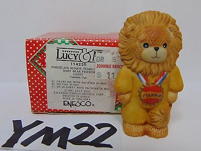 Lucy & Me Ceramic Figure Lucy Rigg Enesco  Bear Wizard Of Oz Cowardly Lion