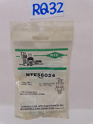 New Nos Nte56024 Triac 400V 40 A Isolated Stud Replaces Sk3662+Ecg56024 Nte