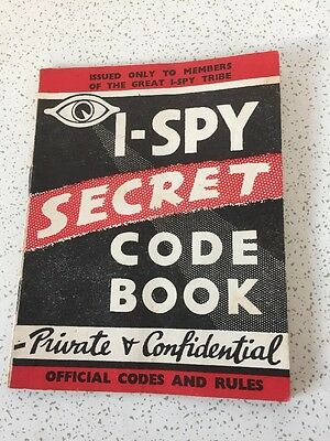 Vintage I Spy Secret Code Book Official Codes & Rules From Club 1960's Rare