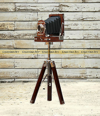 Vintage Replica Wooden Camera Movie and Photography Home & Office Desktop Decor