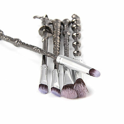 5tlg Harry Potter Silver Metal Beauty Foudation Makeup Pinsel Wizard Wand Brush