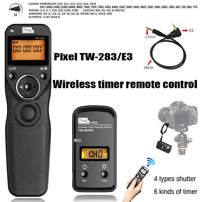 Pixel TW-283 E3 Wireless Timer Remote Control Shutter Release for Canon Pentax