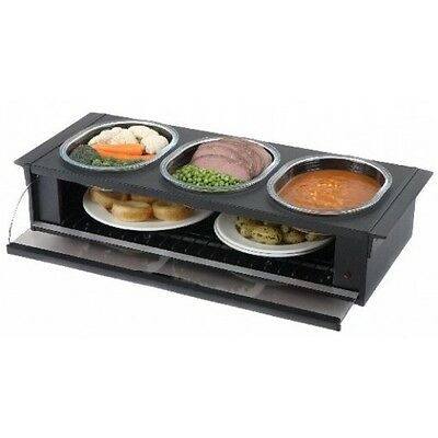 Hostess Cordon Bleu H0392BL Black Heated Side Server