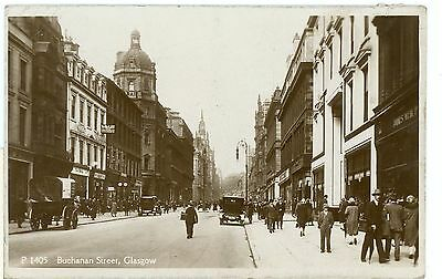Buchanan Street,glasgow- Real Photo-Postcard,posted-G