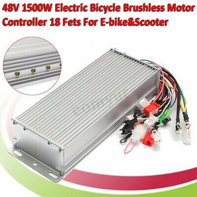 1500W 48V Brushless Motor Controller For E-bike & Scooter Electric Bicycle New
