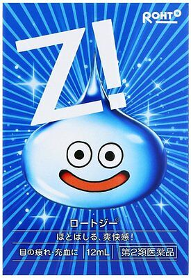 New Rohto Zi Eye drops 12ml Dragon Quest Slime type made in JAPAN Free S/H