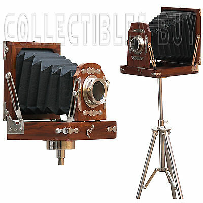 Industrial Photography Film Vintage Folding Camera Steel Tripod Decor Home Gift