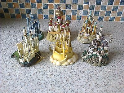 Wdcc Enchanted Castles Decorations X 6 Cinderella Snow White Sleeping Beauty +