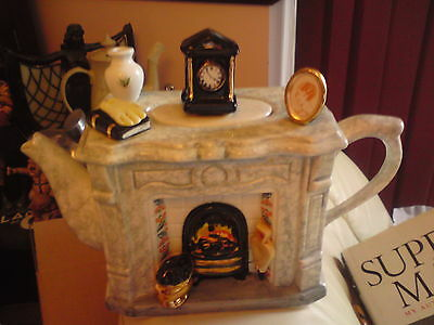 Swineside (The Teapottery) Novelty Teapot, FIRESIDE, VGC, FREE-MAILING.REDUCED.
