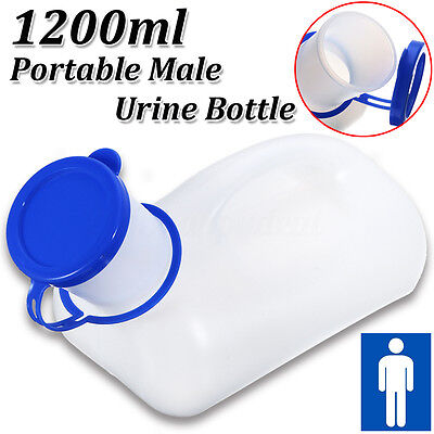 1200ml Blue Portable Outdoor Urine Storage Bottle Male Mens Pee Camping Travel