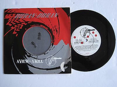 "DURAN DURAN - A VIEW TO A KILL - 7"" 45 rpm vinyl record"