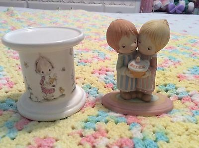 Betsey Clark Figurine And Candle Holder