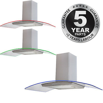 SIA CPLE71SS 70cm 3 Colour LED Stainless Steel Cooker Hood Extractor Fan