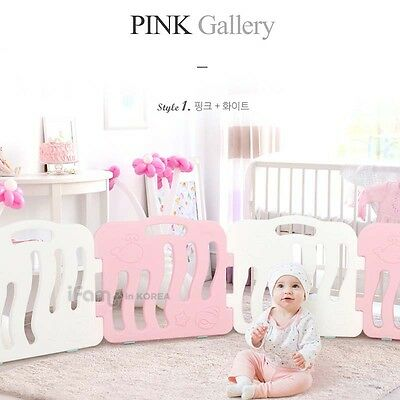 New IFAM Shell Baby Room White 4pcs Pink 4pcs SET Self Baby Room Standing Fence