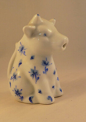 Vintage French Blue & White Cow Creamer