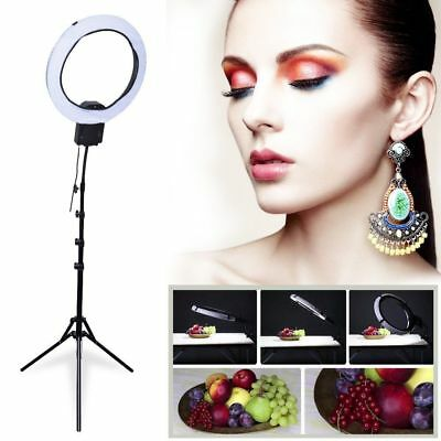 19''48.7cm 65W Ring Light + Light Stand fr Beauty Make Up Photo Video AU