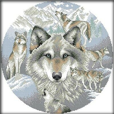 Spirit of the Wolf. 14CT counted cross stitch kit. Craft brand new.