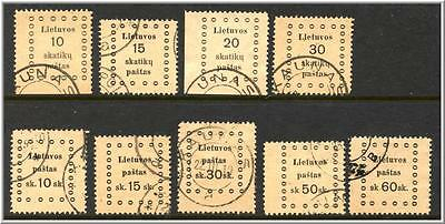 Lithuania-1919 Stamps, nice selection, see information