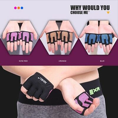 Gym Body Building Fitness Training Gloves Sport Weight Lifting Workout Strap Bar