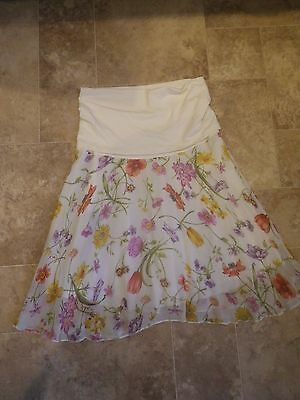 Beautiful Floaty Maternity Skirt By Formes Paris Size 36 UK 8