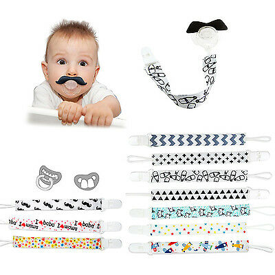 Best Baby Boy Girl Dummy Pacifier Soother Nipple Leash Strap Chain Clip Holders