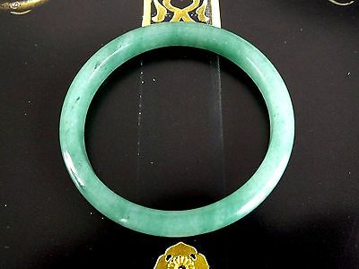 49mm FINE GREEN CHINESE JADE BANGLE CHILDREN BABY BIRTHDAY PARTY GIFT POUCH A3