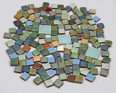 "Grueby Field Tiles Lot of 154 1"" tiles and 3   2"" tiles"