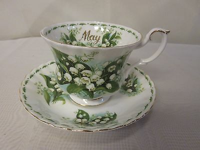 Royal Albert  Flower Of The Month Series-May-Lily of the Valley TeaCup & Saucer