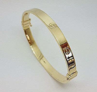 Lovely 9ct Gold Ladies Bangle Bracelet.  Goldmine Jewellers.