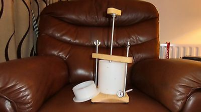CHEESE PRESS for HOME MADE CHEESE + THERMOMETER