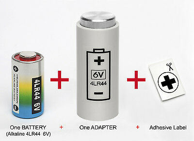 ADAPTER + ONE BATTERY : FOR YASHICA ELECTRO 35, MG-1, AX - ( 4LR44 to PX32 )