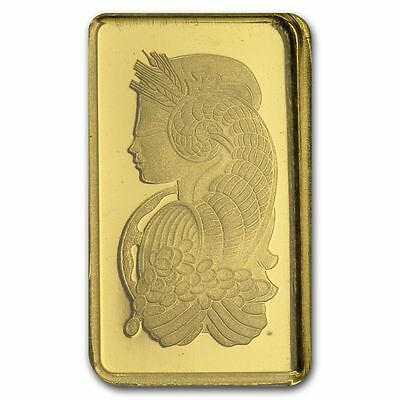 1 gram Pamp Suisse Gold Bar - Lady Fortuna - In Assay Card 1
