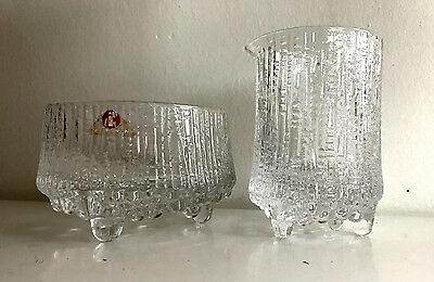 iittala finland tapio wirkkala ultima thule milk and sugar glass crystal