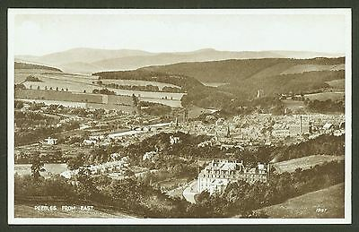 Peebles from East - Valentine's Real Photo Postcard