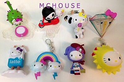 7-11 HK Sanrio Hello Kitty Friends Animal Carnival Plush Strap Dolls 12pcs