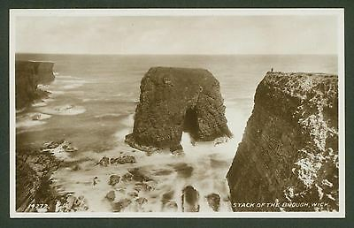 Caithness. Wick. Stack of the Brough - Valentine's Real Photo Postcard