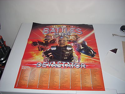 DOCTOR WHO BATTLES in TIME DEVASTOR POSTER  VGC