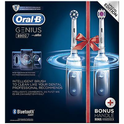 2 x Braun Oral-B Genius 8900 Electric Rechargeable Power Toothbrush, Bundle Pack