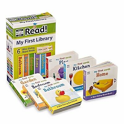 """NEW""  Your Baby Can Read, My First Library ● 6 Mini Sliding Board Books"