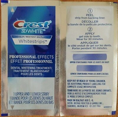 CREST 3D White Whitestrip Professional Effects Teeth Whitening No Slip 1 pouch