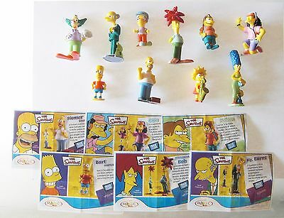 Kinder The Simpsons Serie Completa Con 6 Cartine