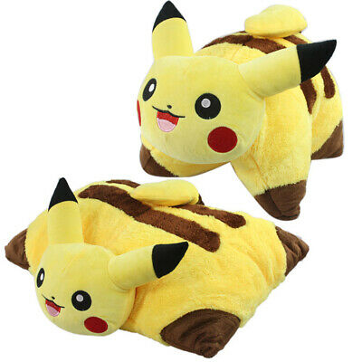 POKEMON CENTER Pikachu Soft Plush Pillow Anime Stuffed Toy Doll Collection Gift
