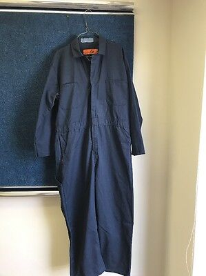RED KAP Men's Long Sleeve Twill Coverall Work Wear Navy  50