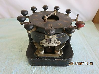Automatic Bank Punch Co,Bradly Mfg Brooklyn NY Check Number Punch,1884,Cast iron