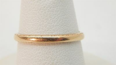 14k Yellow Gold Patterned Wedding Band Ring Size 5 1/2 Ladies