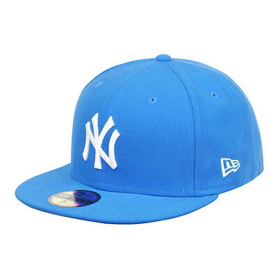 New York Yankees Light Blue MLB 59FIFTY [5950] Fitted Cap