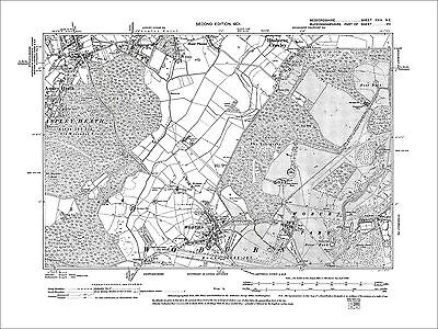 Woburn, Park (N), Aspley Heath (E), old map Bedfordshire 1901: 24NE